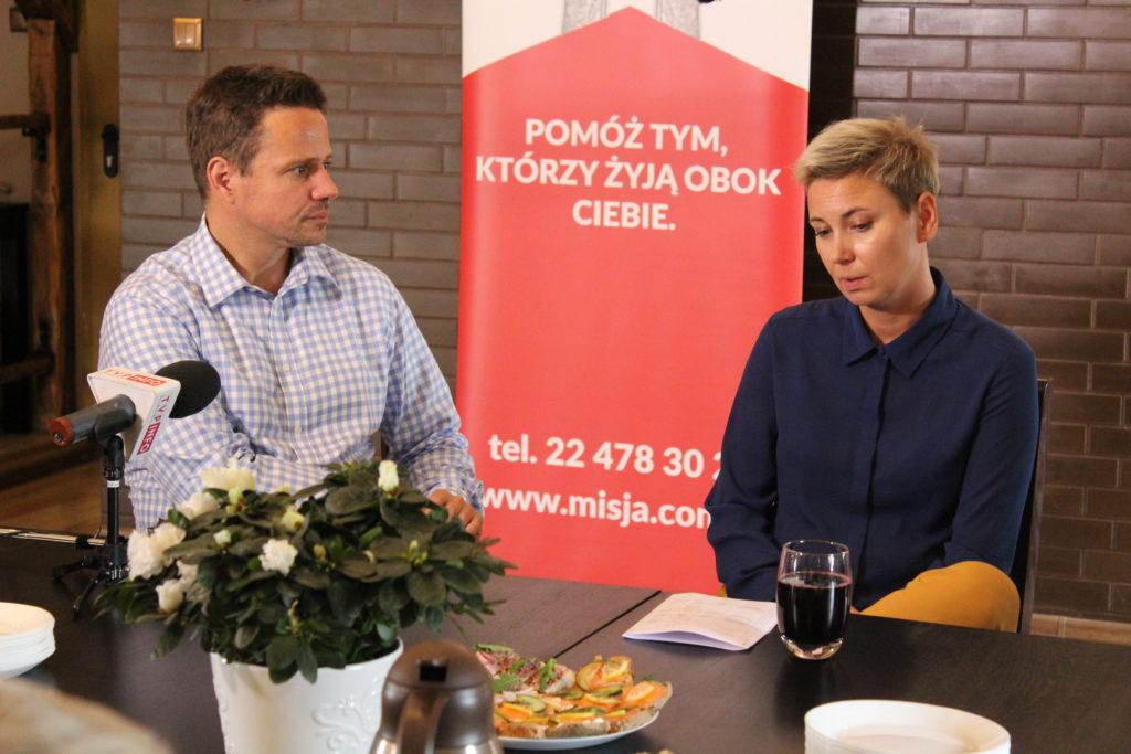 Spotkanie z kandydatem na prezydenta Warszawy Rafałem Trzaskowskim
