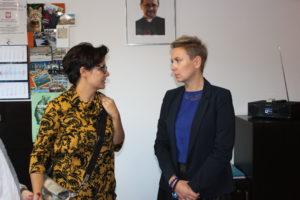 Wizyta Justyny Glusman kandydatki na Prezydenta Warszawy